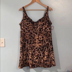 Brand new padded Cheetah swim dress